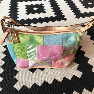 Coach Pastel patchwork purse